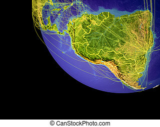 Latin America from space on Earth - Latin America from space...