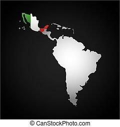latin america map