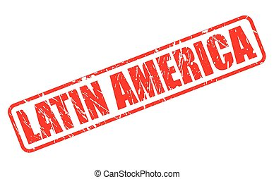 LATIN AMERICA red stamp text on white