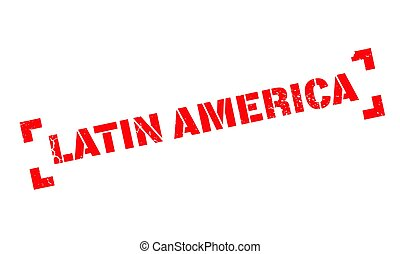 Latin America rubber stamp. Grunge design with dust...