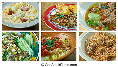 Latin American cuisine - Food set . southern food.Latin...