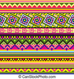 Latin American pattern - vector seamless background with a...
