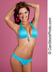 Latin Bikini Girl - Beautiful sexy latin bikini girl