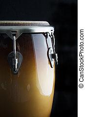 Latin Conga Drum Isolated on Black