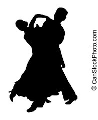 Latin couple dancing isolated on white