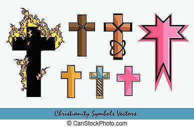Latin Cross Vector Symbols Set