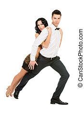 latin dance - Beautiful professional artists dancing...
