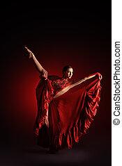 latin dance - Beautiful professional dancer performs latino...