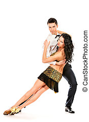 latin dancers - Beautiful professional artists dancing...