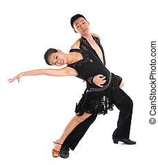 Latin dancers - Young Asian teens couple latin dancers...
