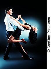 latin dancers - Beautiful couple of professional artists...
