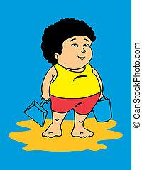 Latin fat kid