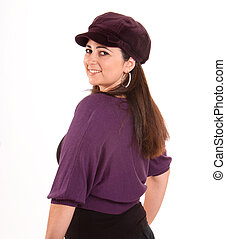 Latin girl wearing a cap