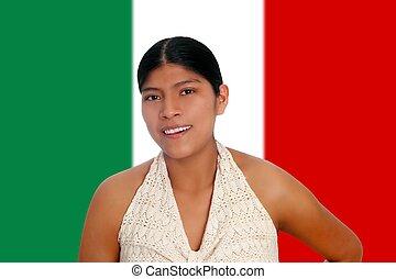 latin, hispanique, maya, portrait femme