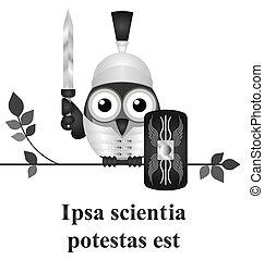 Latin knowledge - Monochrome Latin quotation Ipsa scientia ...