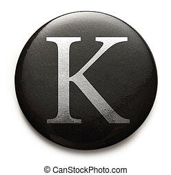 Latin letter K - Single capital latin letter K