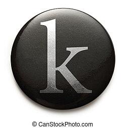 Single lowercase latin letter k