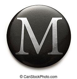 Latin letter M - Single capital latin letter M
