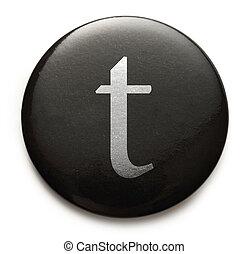 Latin letter t - Single lowercase latin letter t