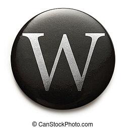 Latin letter W - Single capital latin letter W