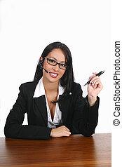 attendign a client