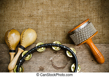 Latin percussion - Percussion on sackcloth and old wood...