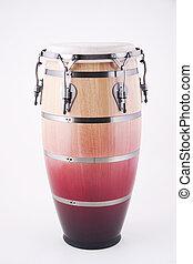 latin, trumma, isolerat, afrikansk, vit, conga