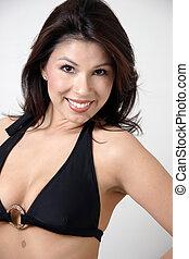 Latina in a bikini