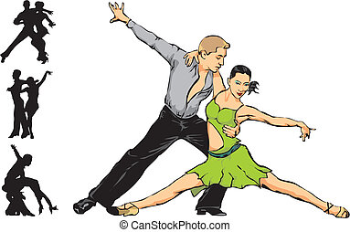 latino dancing - couple dancing, competitive dance, sports...