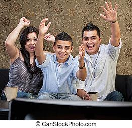 Latino Family Celebrating