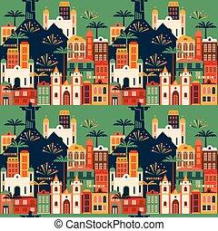 latino, giugno, pattern., seamless, vacanza, americano, festa, brazil.