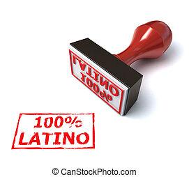 Latino stamp 3d illustration