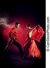 latino style - Professional dancers perform latino dance....
