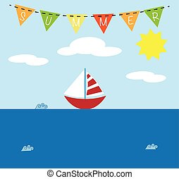 lato, łódka
