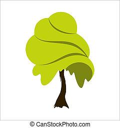 lato, abstrakcyjny, drzewo