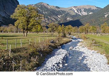 lato, austria, indianin, karwendel, góry