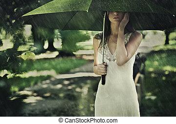 lato, deszcz