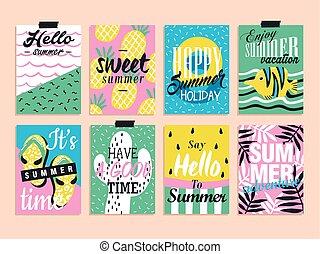 lato, elementy, zbiór