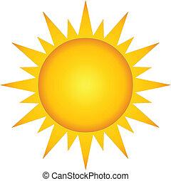lato, gorący, słońce