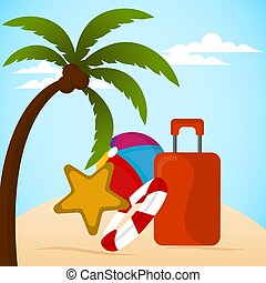 lato, graficzny zamiar, urlop