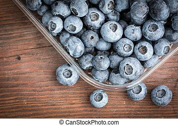 lato, jadło, jagody, zdrowy, stół, świeży