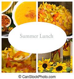 lato, jesień, lunch, collage, (healthy, kasownik, food)