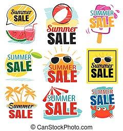 lato, komplet, chorągiew, sprzedaż