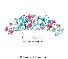 lato, kwiatowy, ozdoby