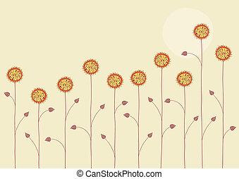 lato, kwiaty
