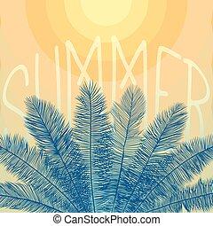 lato, liście, tło