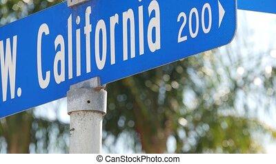 lato, los, turysta, tekst, symbol, crossroad., tytuł, miasto...