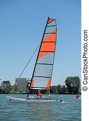 lato, nawigacja, -, jezioro, lekkoatletyka, temat