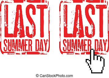 lato, ostatni, dzień