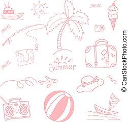 lato, piknik, doodle
